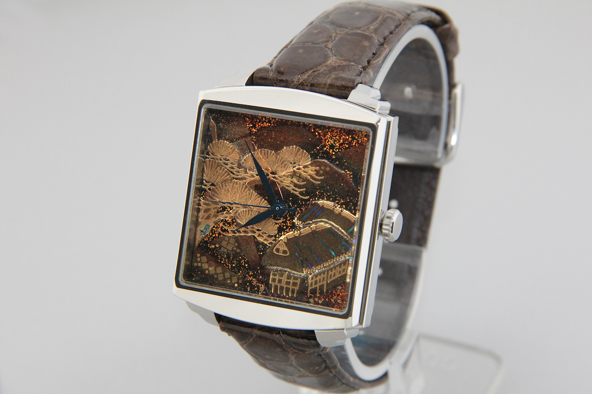 Urushi maki-e watches [Joga] Mountain and Waterscape ver2
