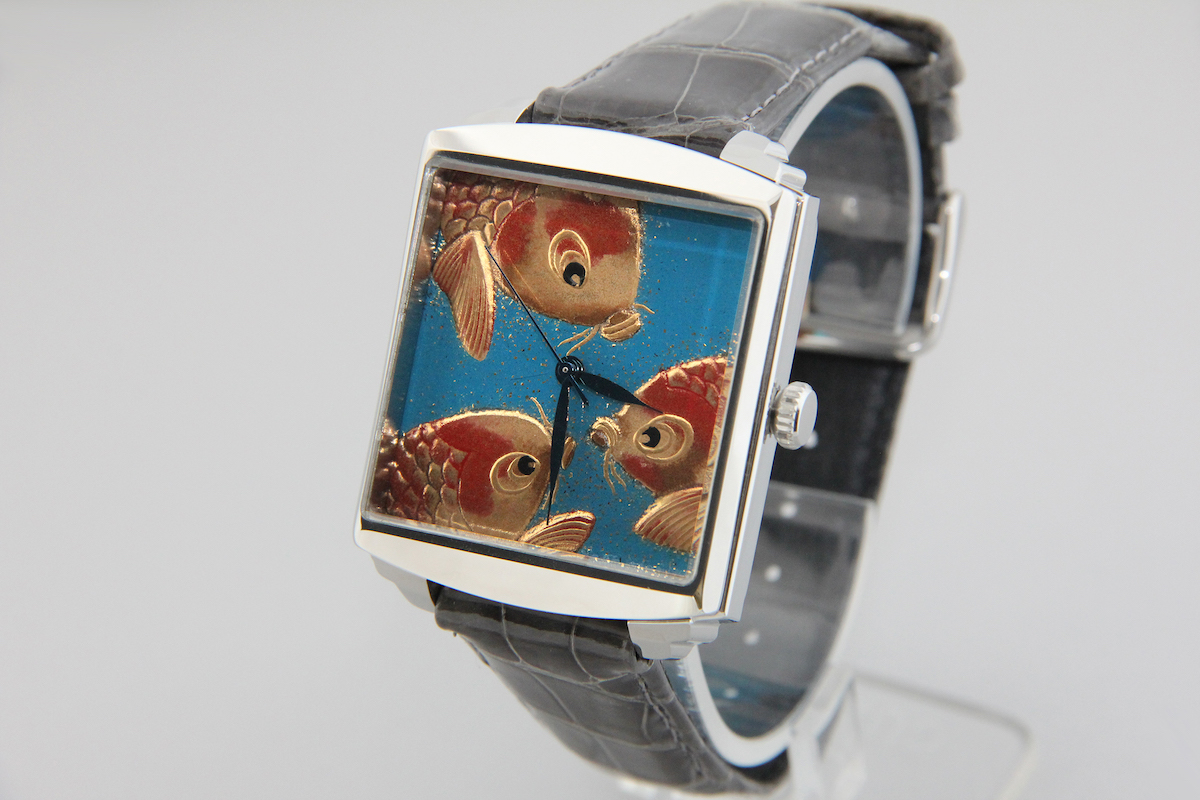 Urushi maki-e watches [Joga] Carp