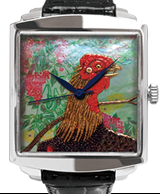 Maki-e watch[Jakuchu's Heavenly Bamboo and a Rooster]