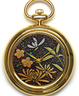 Maki-e watch[Shikunshi (Plum, Bamboo, Orchid, and Chrysanthemum) 1]