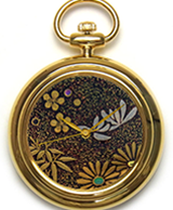 Maki-e watch[Shikunshi (Plum, Bamboo, Orchid, and Chrysanthemum) 3]